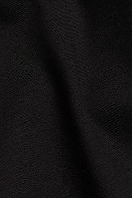 Leggings with shiny stripes, LENZING™ ECOVERO™, BLACK, detail