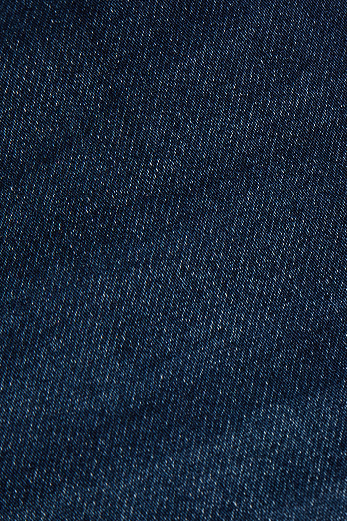 Jeans in soft tracksuit material, BLUE DARK WASHED, detail image number 4