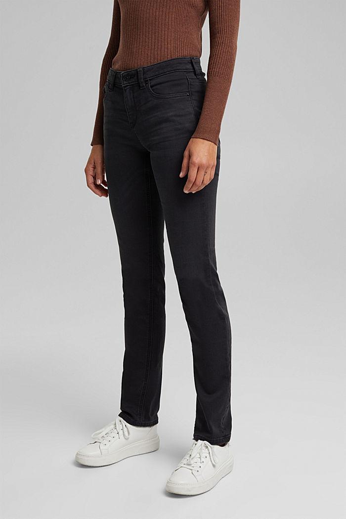 Jeans i bekväm joggingkvalitet, BLACK DARK WASHED, detail image number 0