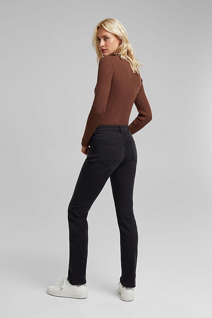 Jeans i bekväm joggingkvalitet, BLACK DARK WASHED, detail image number 3