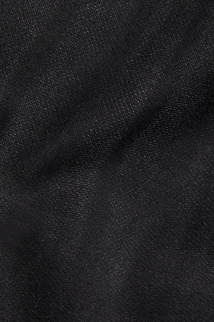 Jeans in comfy tracksuit fabric, BLACK DARK WASHED, detail image number 4