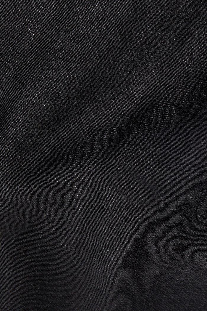 Jeans i bekväm joggingkvalitet, BLACK DARK WASHED, detail image number 4