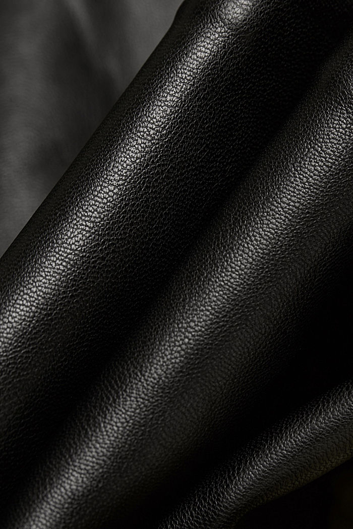 Faux leather leggings with zip details, BLACK, detail image number 4