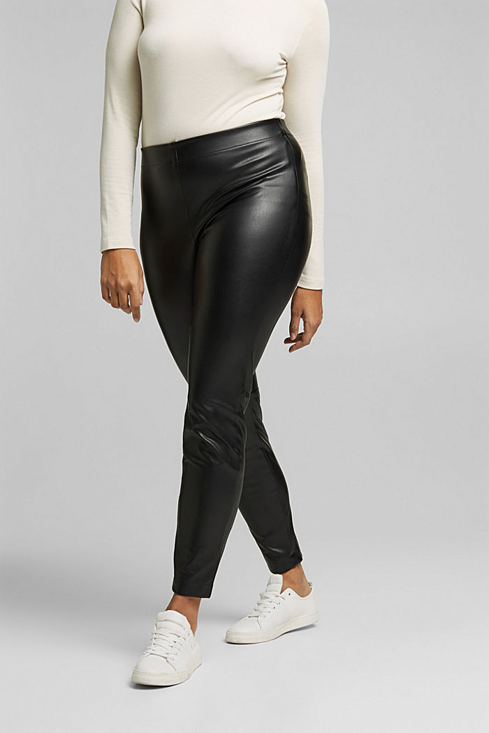 CURVY Leggings in Leder-Optik