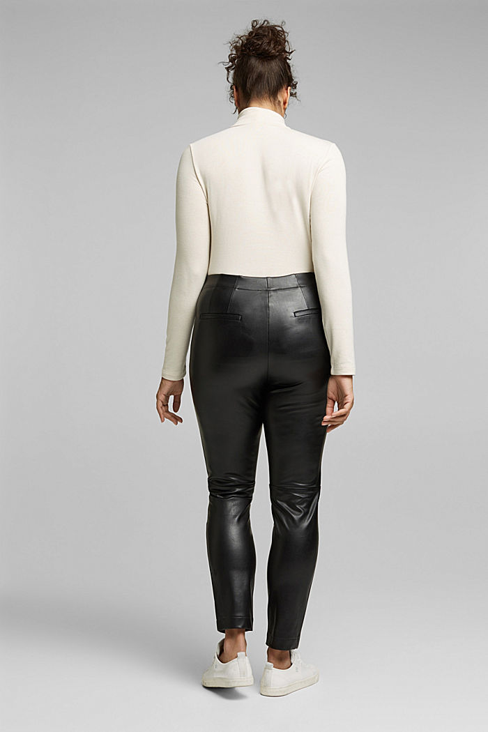 CURVY faux leather leggings, BLACK, detail image number 3