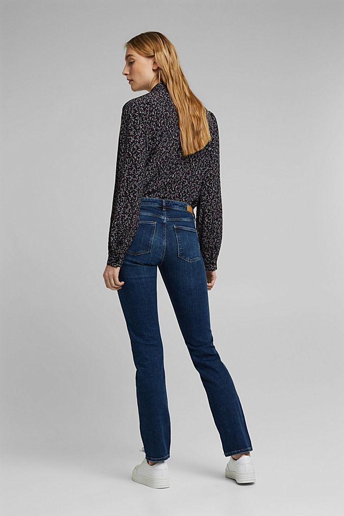 Washed-look stretch jeans, BLUE DARK WASHED, detail image number 3