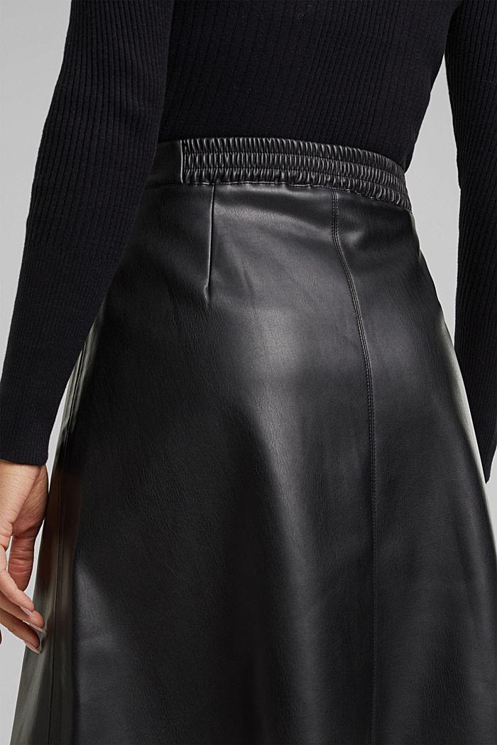 Faux leather mini skirt, BLACK, detail image number 2