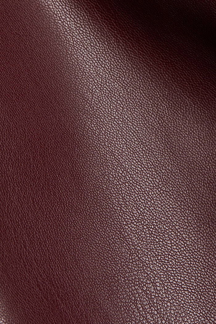 Faux leather mini skirt, BORDEAUX RED, detail image number 4