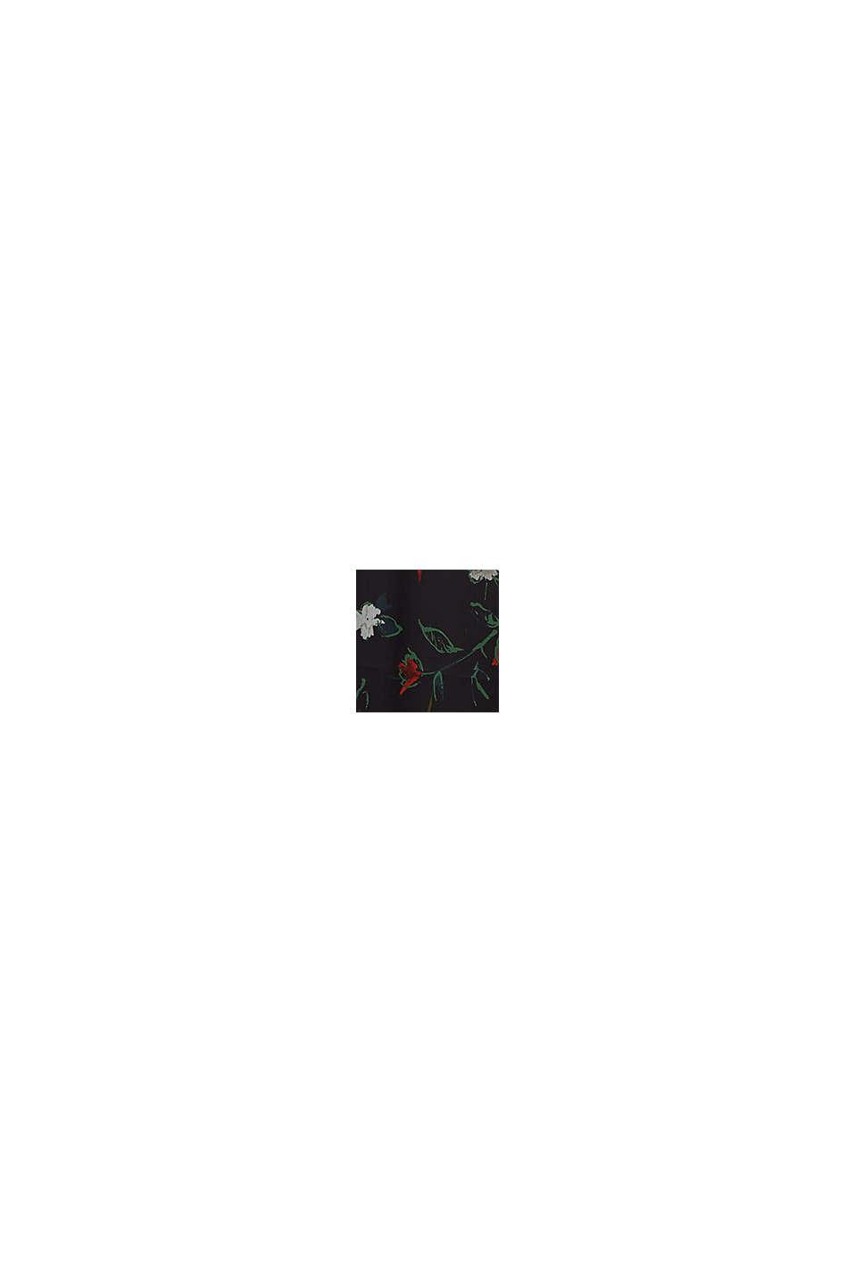 Kierrätettyä: Midihame ryppysifonkia, BLACK, swatch