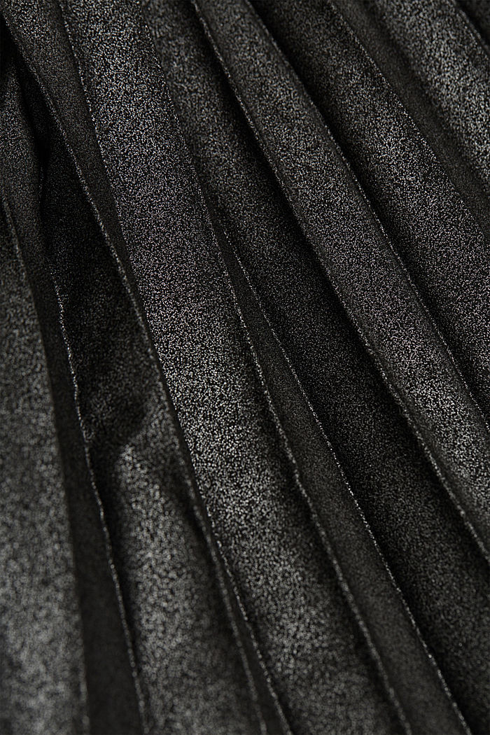 Pleated skirt with an elasticated waistband, BLACK, detail image number 4