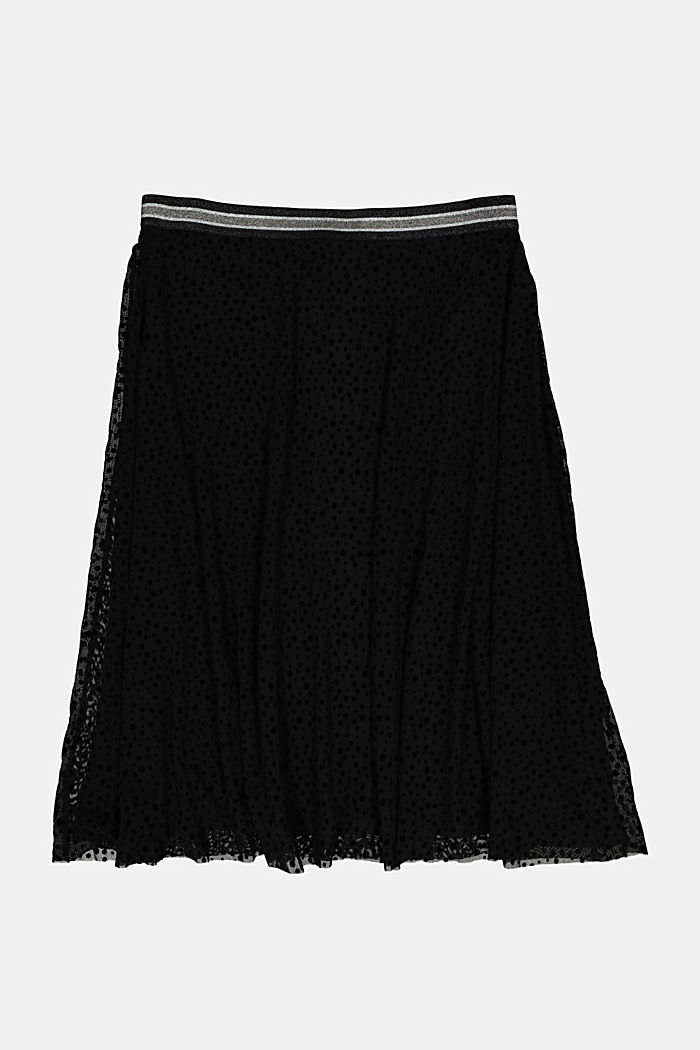 CURVY pleated skirt with a glittering waistband