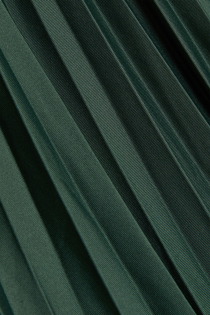 Plissé skirt with sporty elasticated waistband, DARK GREEN, detail image number 4