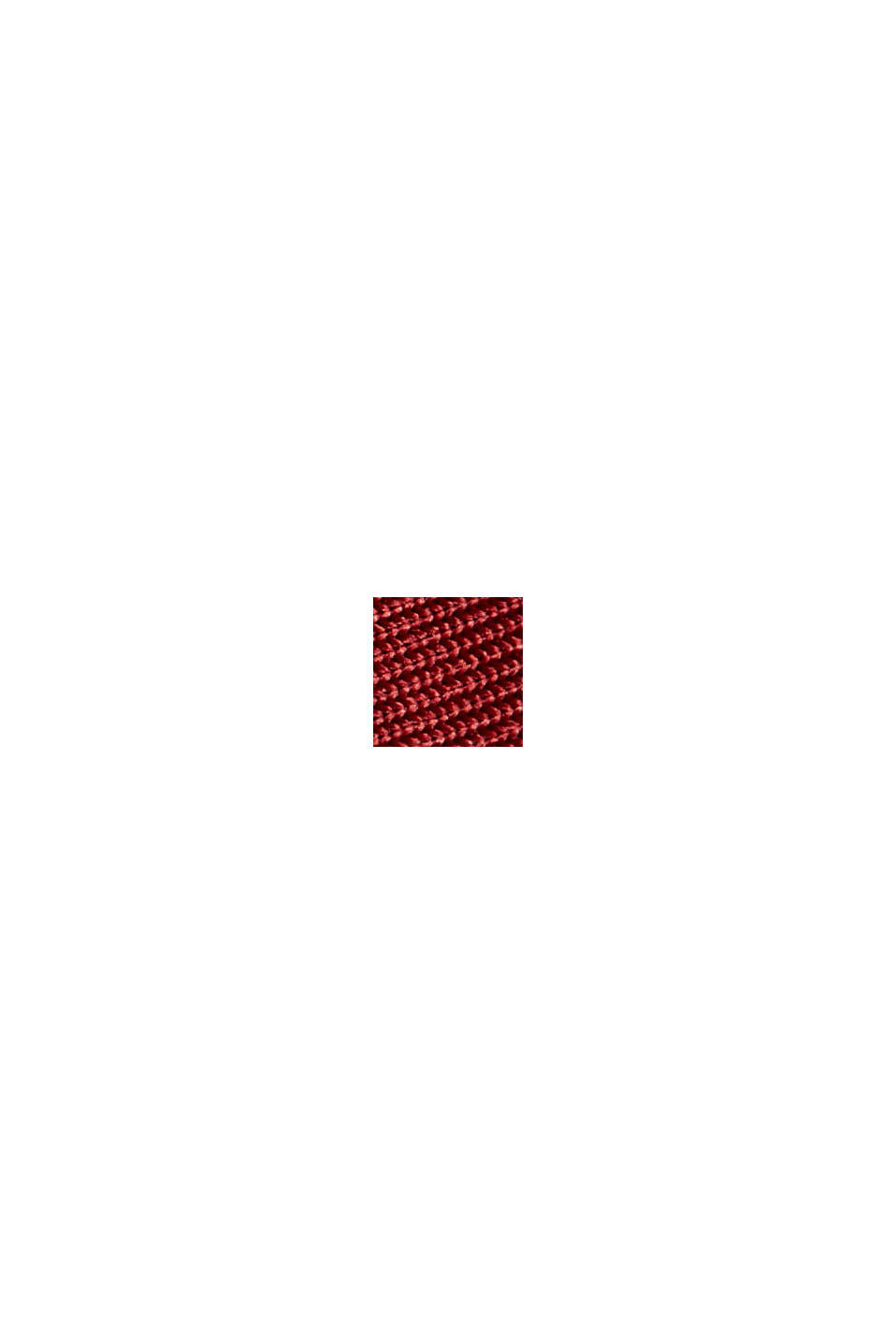 Plissérok met sportieve, elastische band, BORDEAUX RED, swatch