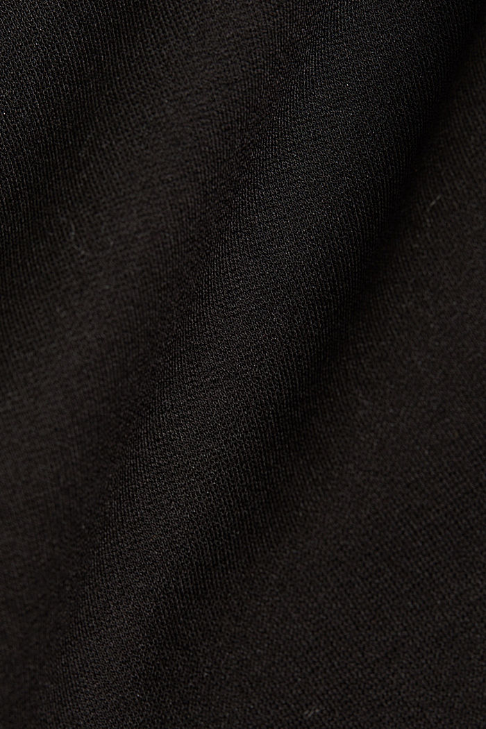 Jersey dress with mesh sleeves, BLACK, detail image number 4