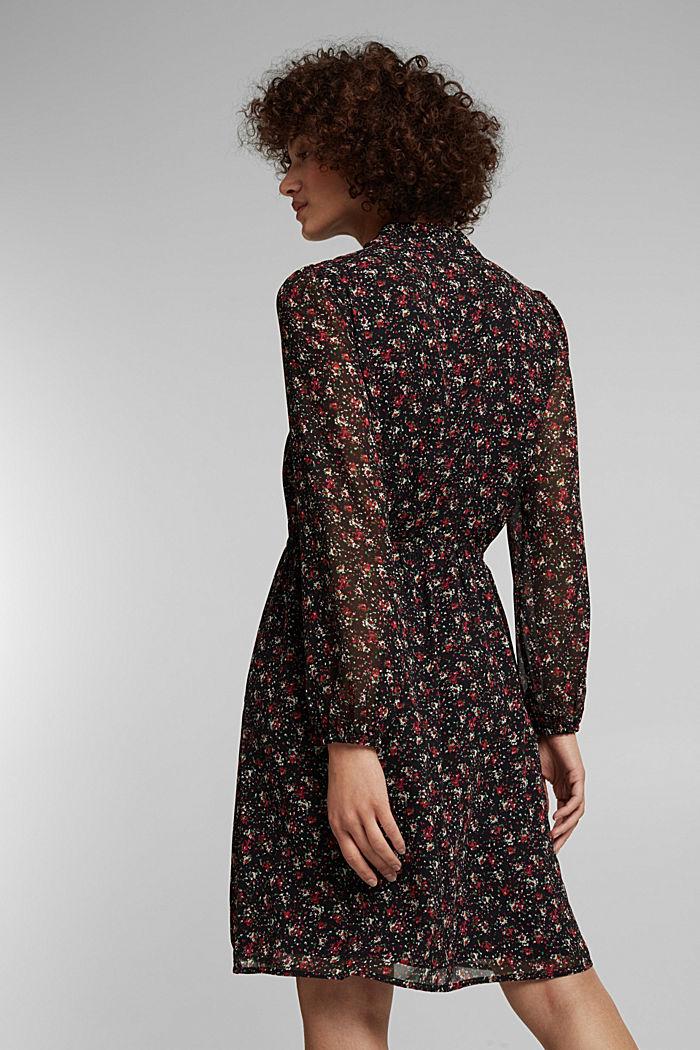 Print-Kleid mit Schluppe, BLACK, detail image number 2