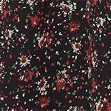 Print-Kleid mit Schluppe, BLACK, swatch
