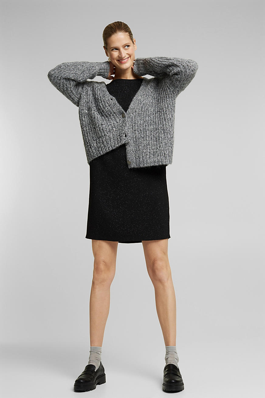 Recycled: glittering knit dress