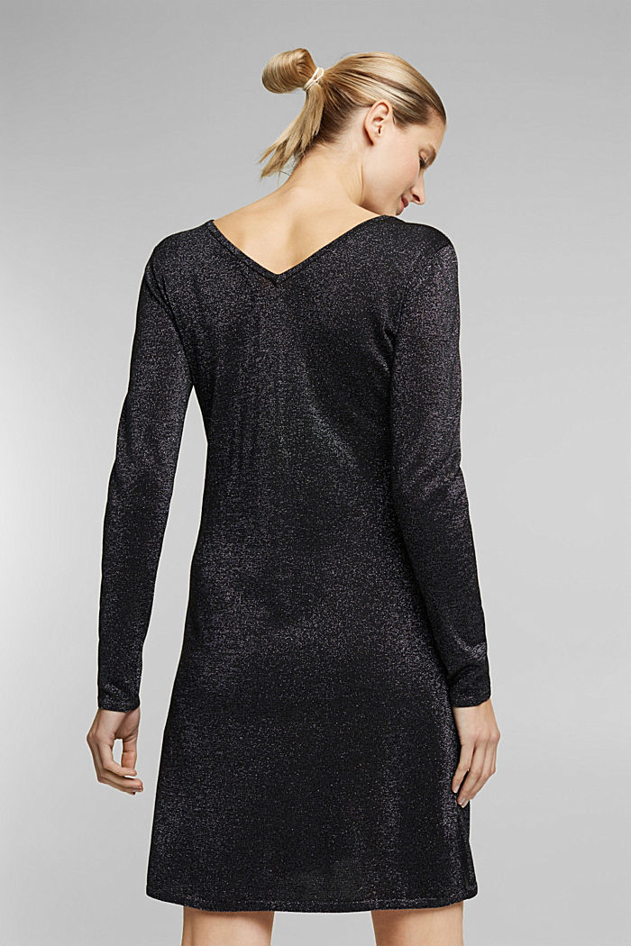 Recycled: jersey dress with glitter, BLACK, detail image number 2