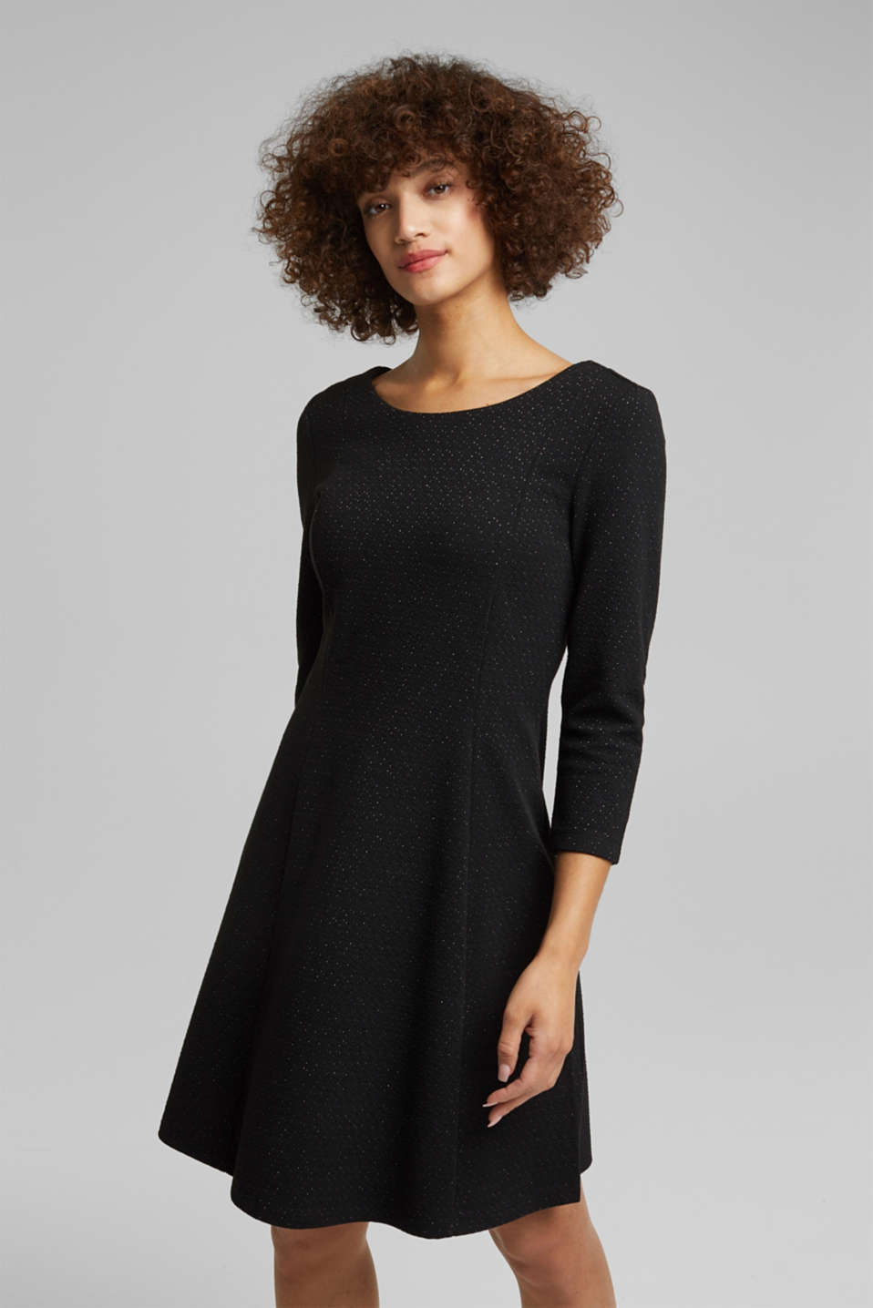 Esprit - Recycled: jersey dress with glitter