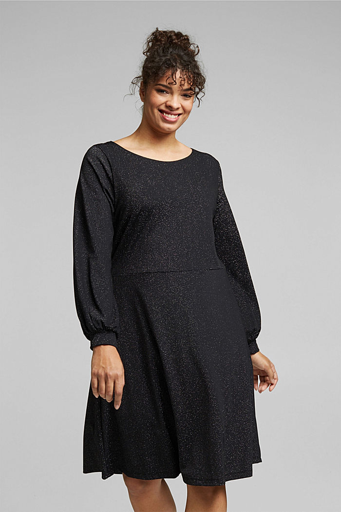 CURVY jersey dress with glitter