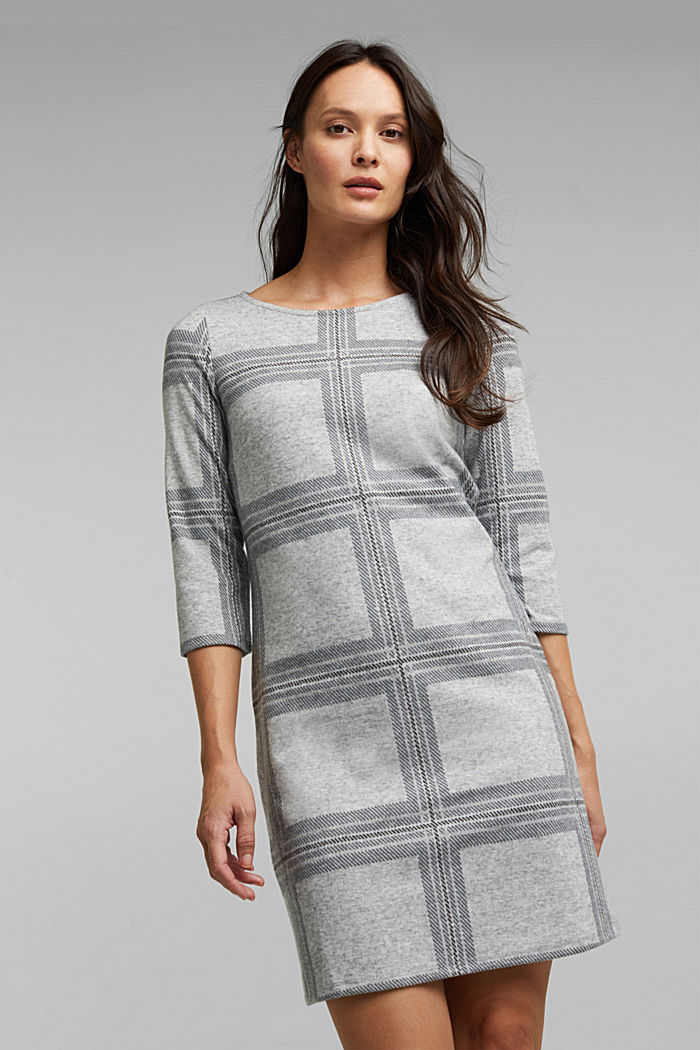 Recycled: flannel dress with a check pattern
