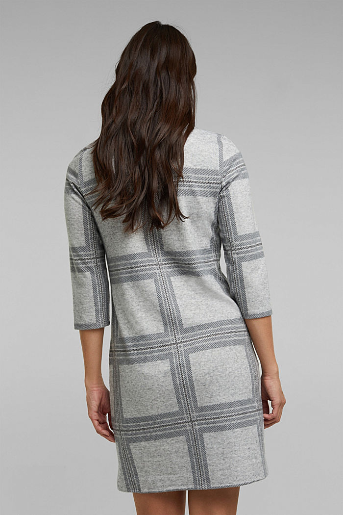 Recycled: flannel dress with a check pattern, LIGHT GREY, detail image number 2