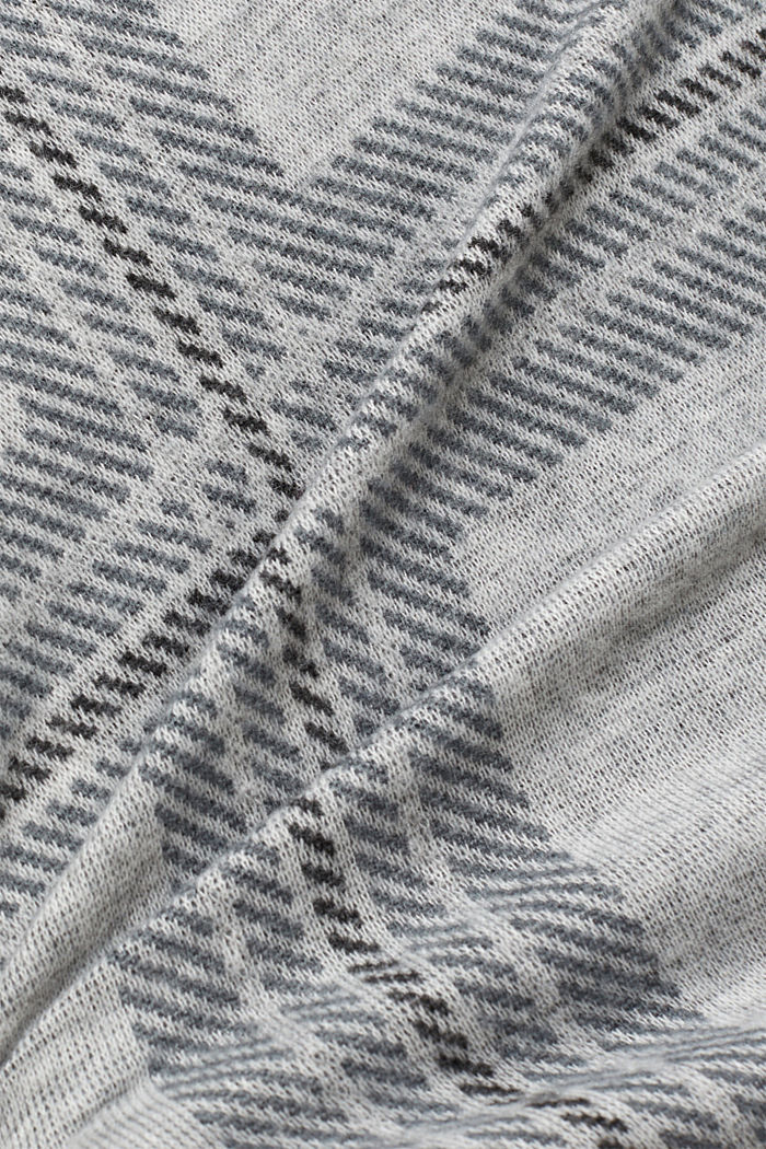 Recycled: flannel dress with a check pattern, LIGHT GREY, detail image number 4