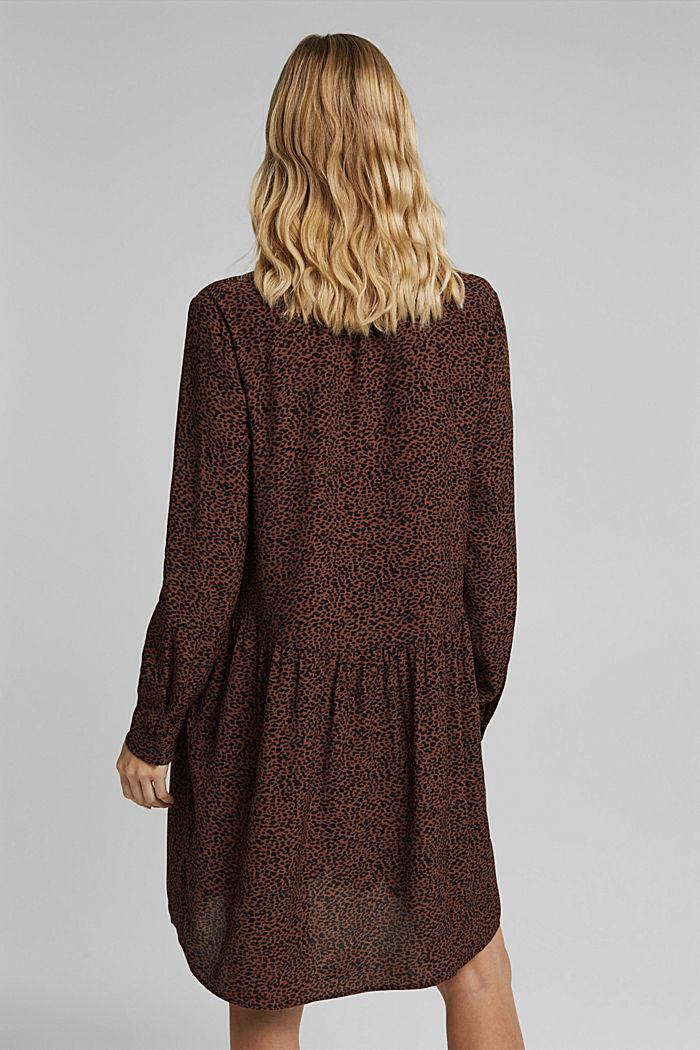Shirt dress with a print, BROWN, detail image number 2