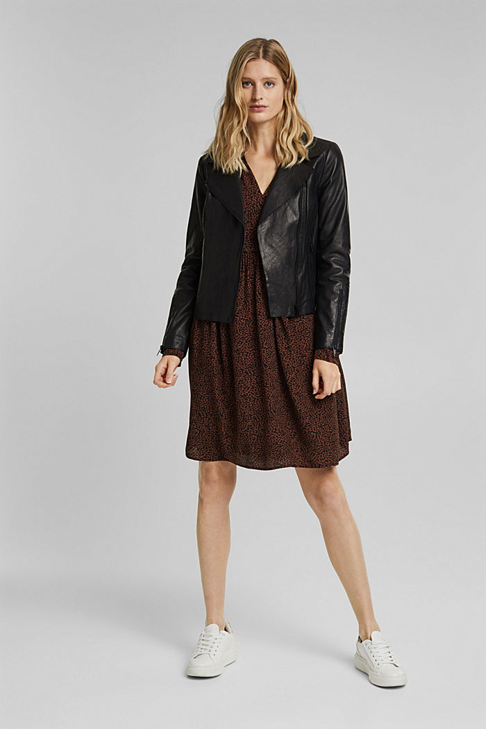Shirt dress with a print, BROWN, detail image number 1