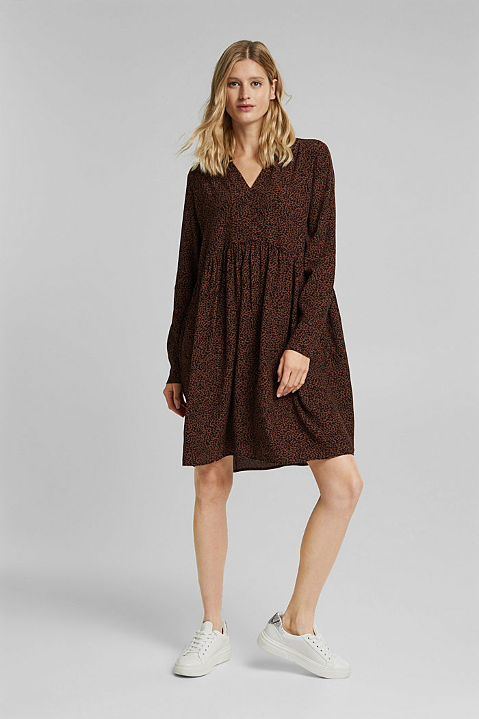 Shirt dress with a print, BROWN, detail image number 7
