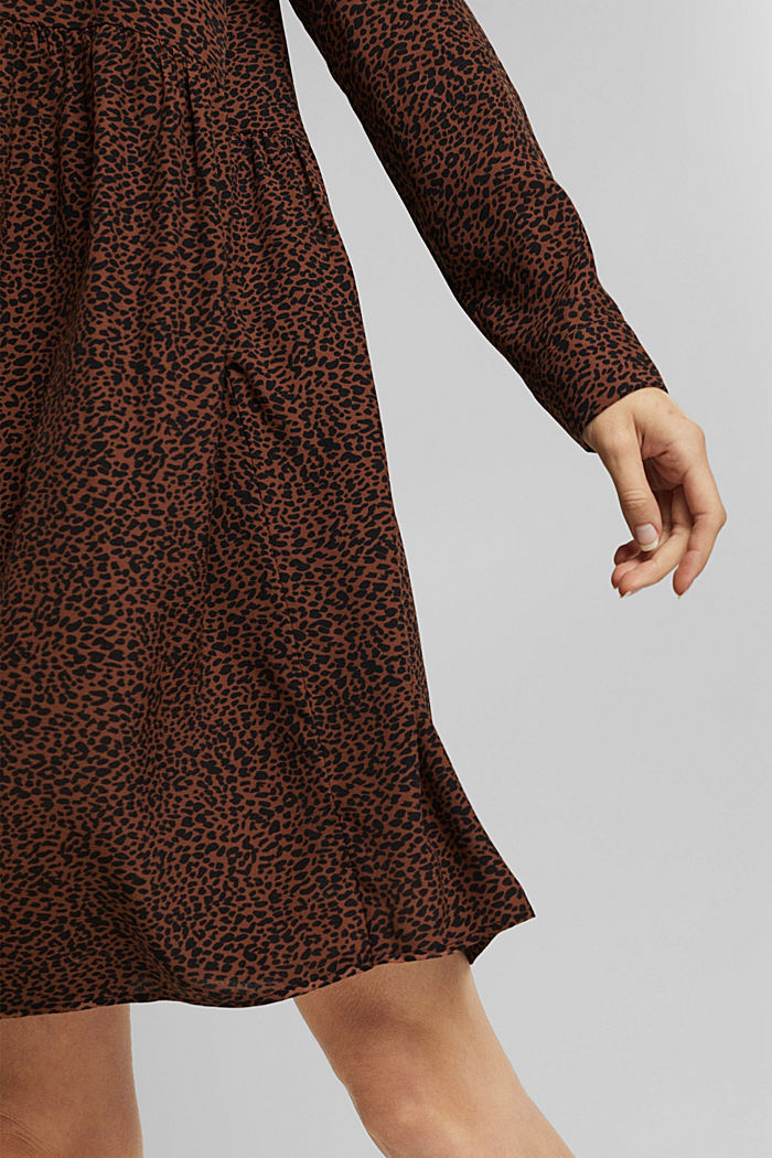 Shirt dress with a print, BROWN, detail image number 6