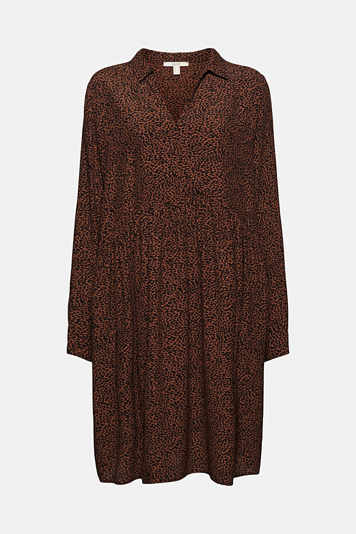 Shirt dress with a print, BROWN, detail image number 8