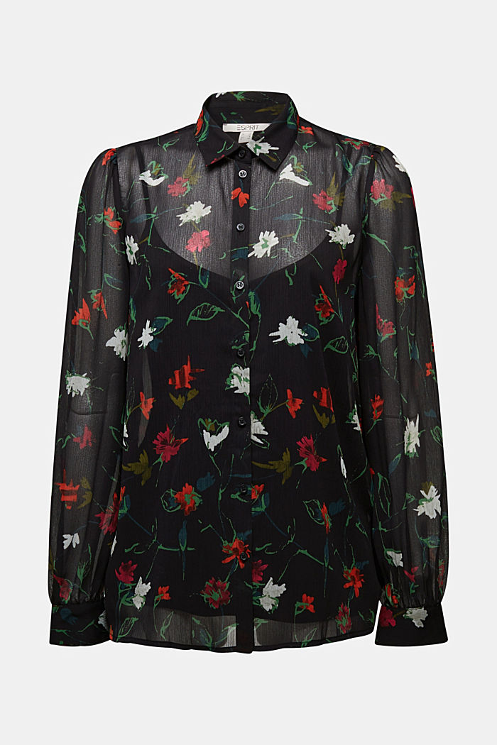 Recycled: printed chiffon blouse