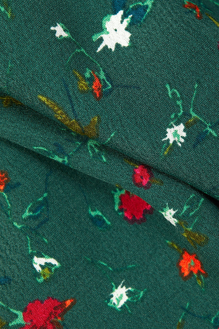 Crêpe blouse containing LENZING™ ECOVERO™, DARK GREEN, detail image number 4