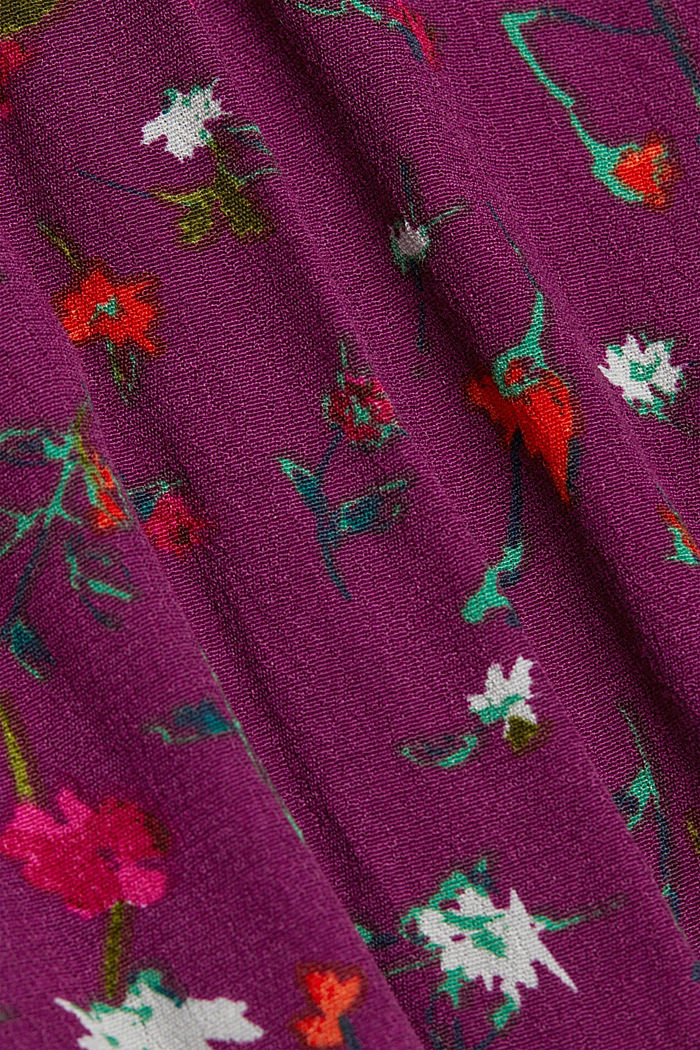 Crêpe blouse containing LENZING™ ECOVERO™, BORDEAUX RED, detail image number 4