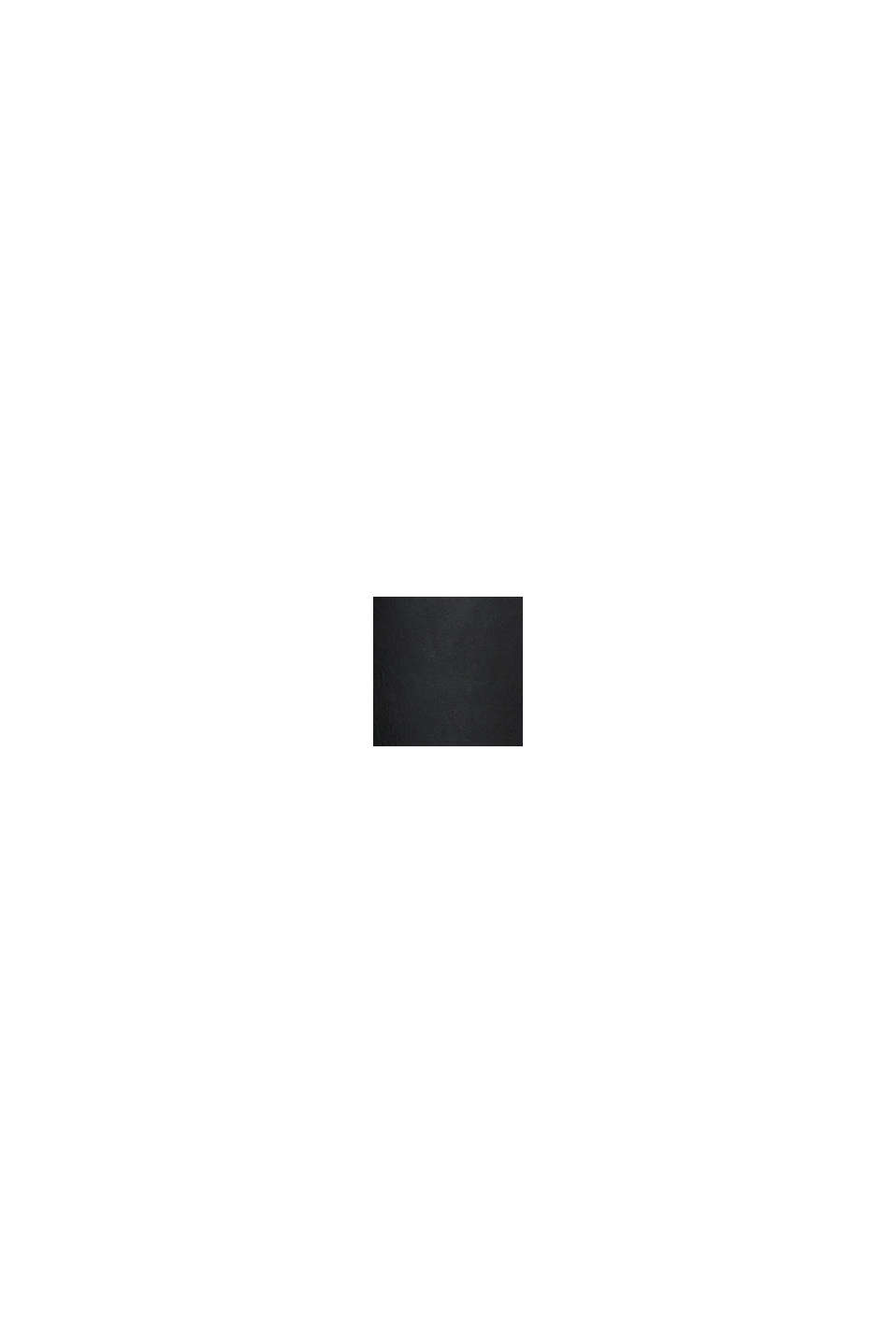 Blusen-Top in Leder-Optik, BLACK, swatch