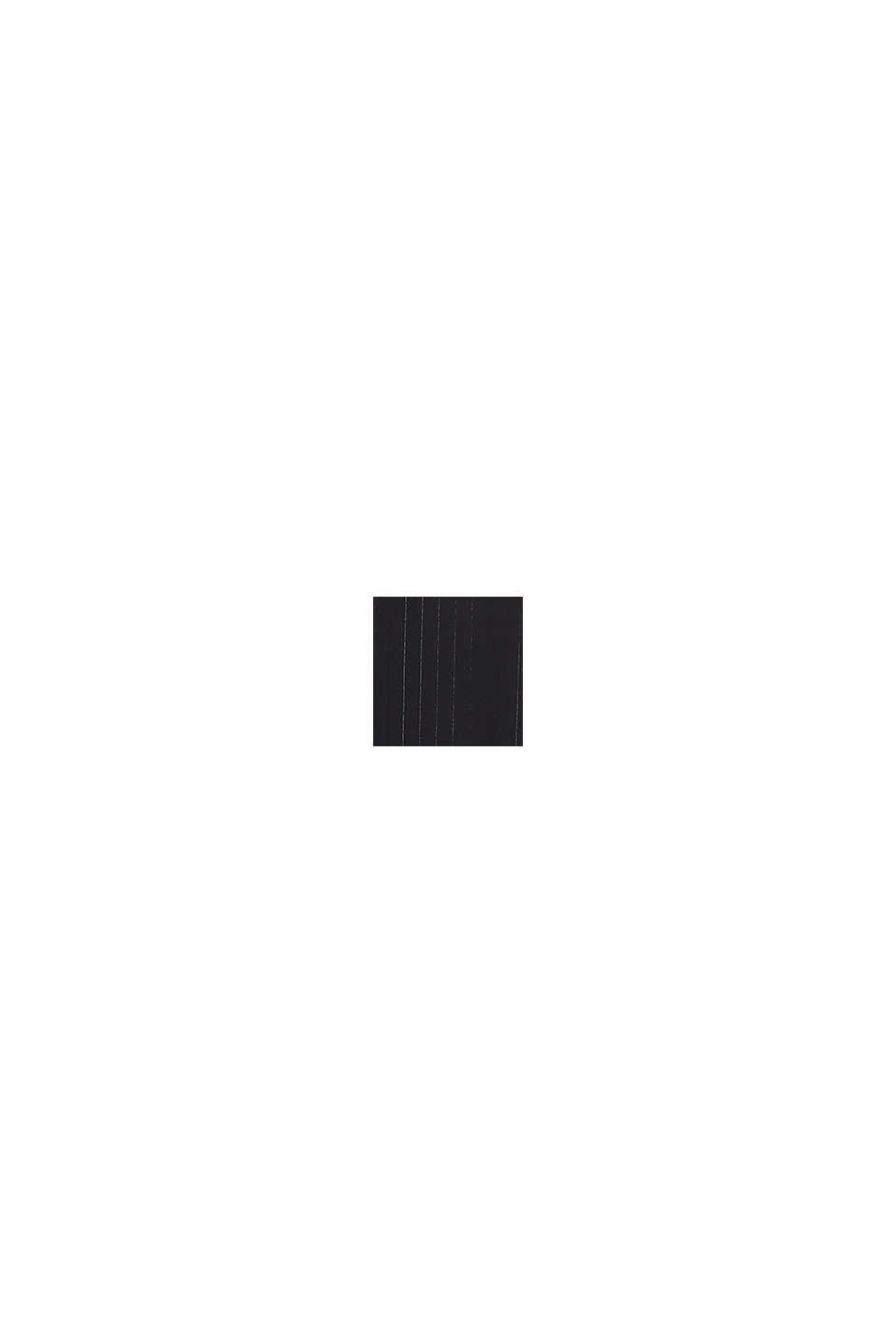 Sifonkipusero, jossa kimaltavat liituraidat, BLACK, swatch
