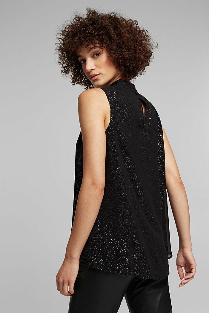 Chiffon blouse top, BLACK, detail image number 3