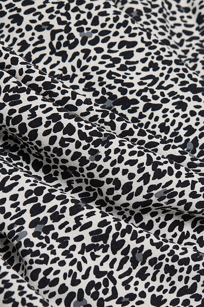 Crêpe blouse with an animal print, OFF WHITE, detail image number 4