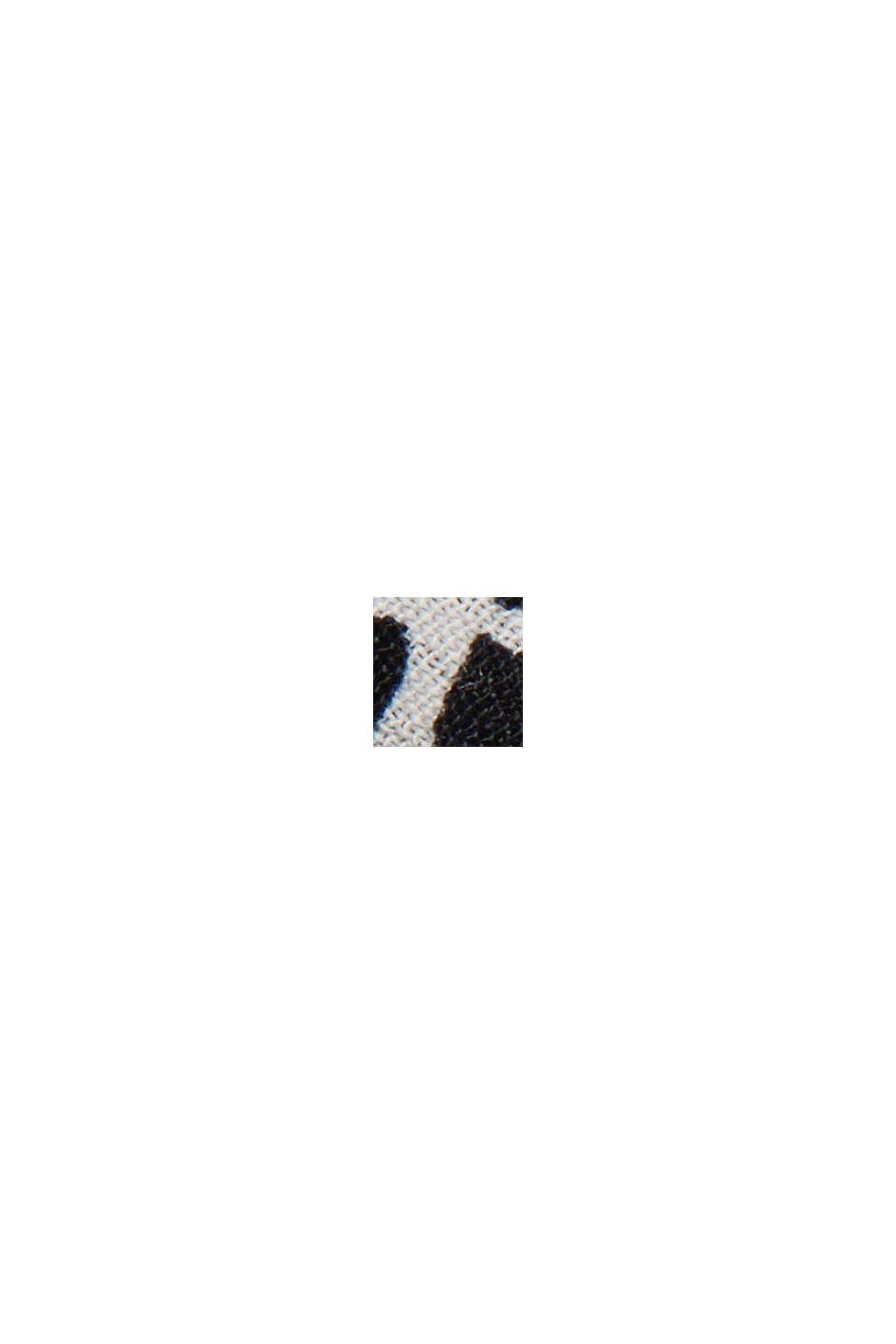 Bluzka z krepy ze zwierzęcym nadrukiem, OFF WHITE, swatch