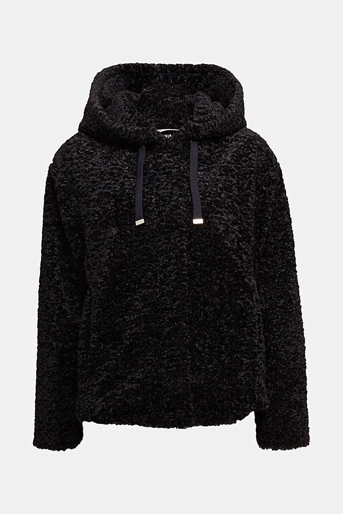 Teddy jacket with a hood