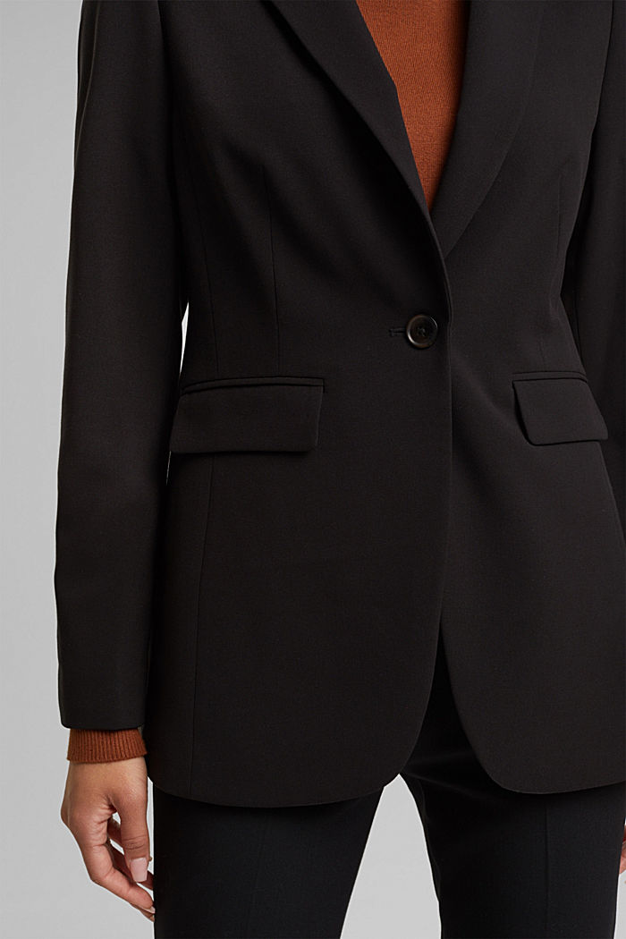 Fitted party blazer, BLACK, detail image number 2