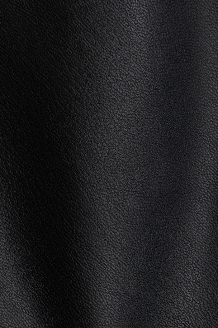Vegan: faux leather biker jacket, BLACK, detail image number 4