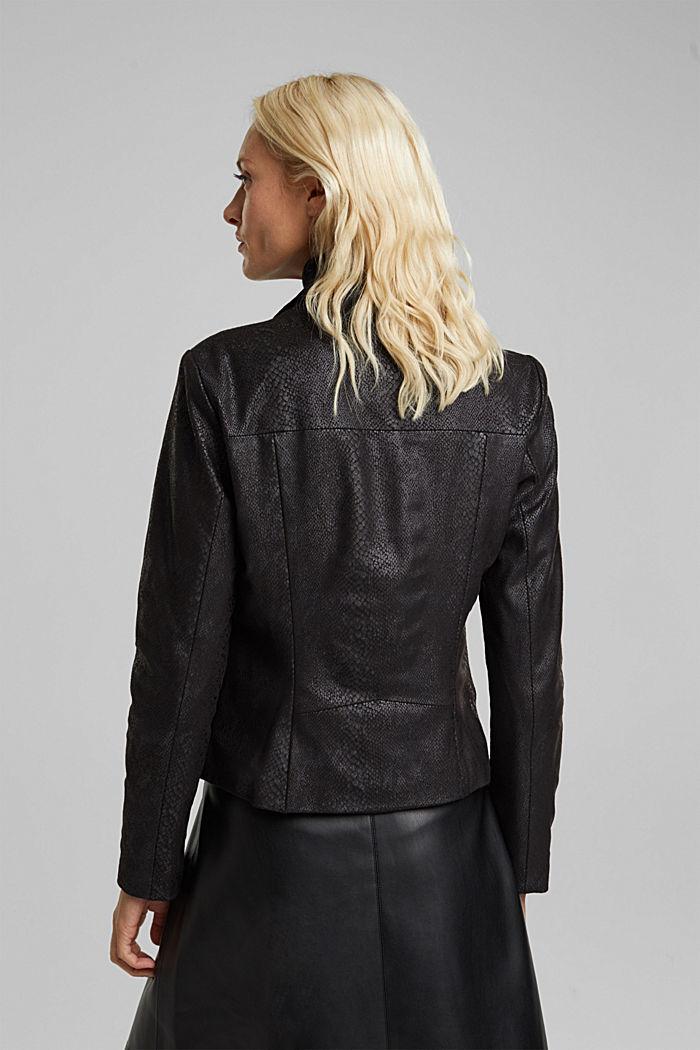 Faux leather jacket, BLACK, detail image number 3