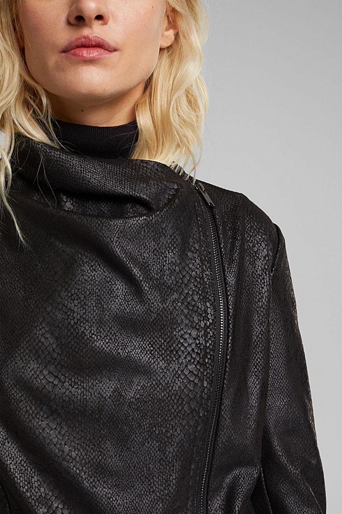 Faux leather jacket, BLACK, detail image number 2
