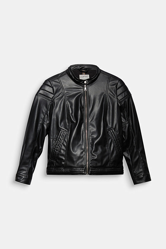 CURVY faux leather biker jacket, vegan