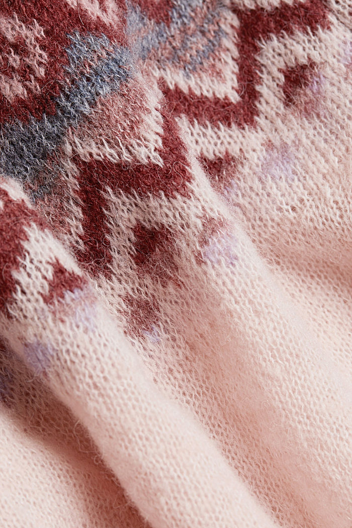 With wool and alpaca: Fair Isle jumper, NUDE, detail image number 4