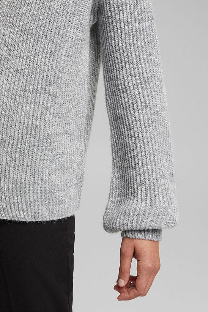 Mit Wolle und Alpaka: Offener Cardigan, LIGHT GREY, detail image number 5