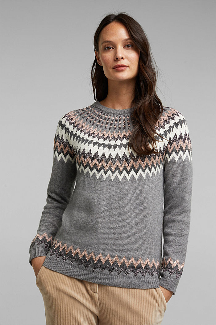 Fair Isle jumper with glitter