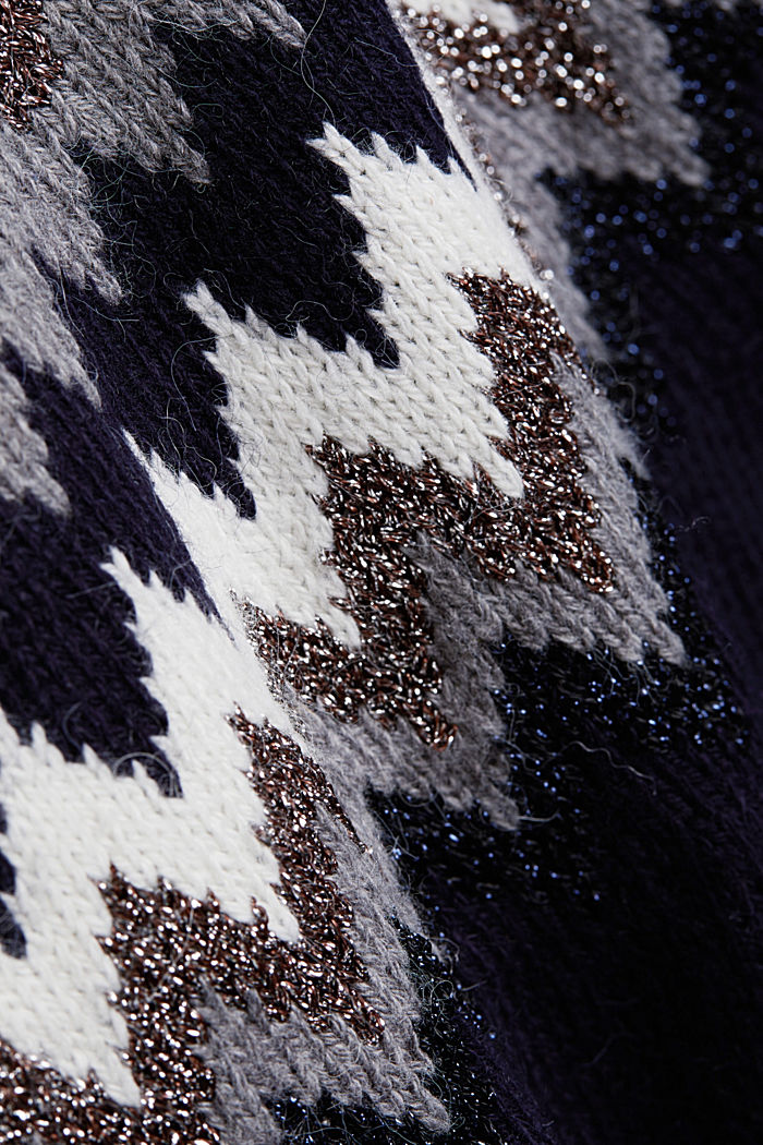 Fair Isle jumper with glitter, NAVY, detail image number 4